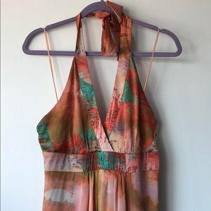 Jessica Simpson multi color printed maxi dress